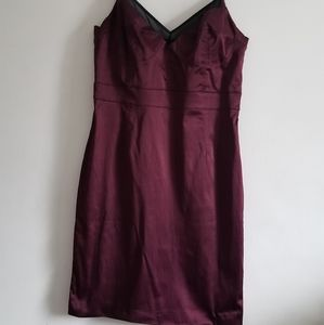 Silky burgundy dress